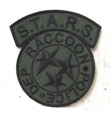 "Resident Evil STARS Raccoon Police Green/Black Camo  Logo 4""  Patch (REPA-107)"