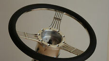STEERING WHEEL 14 INCH BANJO STYLE 9 BOLT BILLET HALF WRAP 4 COLORS +WOOD GRAIN