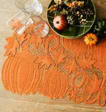 "Heritage Lace PUMPKIN VINE 14""x60"" Table Runner  Fall, Autumn, Halloween"