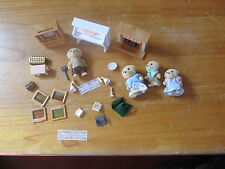 Calico Critters lot of 4 dogs with accessories Television Fireplace more Epoch