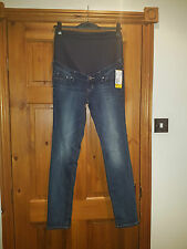 MAMA H&M SKINNY HIGH RIB OVER BUMP MATERNITY JEANS UK 14 EUR 40 NEW WITH TAG