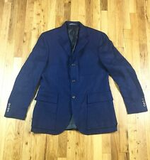 Polo by Ralph Lauren Classic Blue Blazer Sportcoat 100% Flax 40R by Corneliani