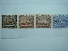 1942-45 Malaya Overprint Japanese Occupation Stamps, Lot#1 - MNH