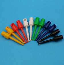 12Pcs 6 Color Round Single Hook Clip Test Probe for Electronic Testing Tools