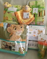 DISNEY LI0N KING 14p Baby Crib Set Bedding Simba Nala Boy Girl Green Jungle Fun
