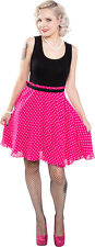 130341 Don't Eyeball Me Dress Sourpuss Pink & Black Polka Dots Pinup S Small