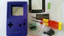 CARCASA COMPLETA+PANTALLA COMPATIBLE GAME BOY COLOR MARIO PURPLE NEW/NUEVO