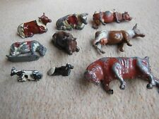 Vintage Lead Animals a BULL 6 COWS and 2 CALVES