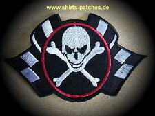 Skull,Patch,Aufnäher,Aufbügler,Badge,Iron On,Badge,Rockabilly,Racing Flags
