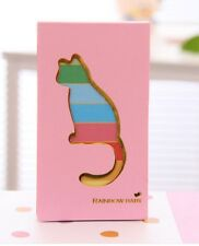 Cut Cat Note Pads Message Memo Kitten Rainbow Color Page Shopping List Note Book