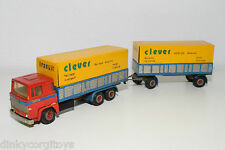 TEKNO SCANIA 141 TRUCK WITH TRAILER CLEVER EXCELLENT CONDITION REPAINT