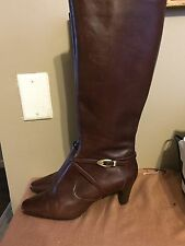 Circa Joan David CJNifty Women's Brown Leather Boots Size 7.5M