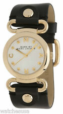 Marc by Marc Jacobs Small Molly River Black Leather Ladies Watch MBM1308