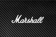 Marshall Amp amplifier Decal Sticker Car SUV Laptop  - WHITE - 8""
