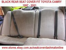 PLAIN BLACK VELOUR REAR SEAT COVER FIT TOYOTA CAMRY 1997 - 2001