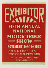 Poster Stamp / Cinderella - Fifth Annual National Motor Truck Show, NYC 1938