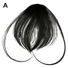 Hair Clip in Bangs Fake Hair Extension False Hair Piece Clip on Front Neat Bang
