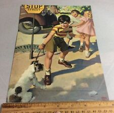 Vintage Print by Andrew Loomis of a Boy And His Dog
