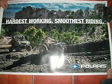 """POLARIS HARDEST WORKING/SMOOTHEST RIDING POSTER - 36""""wide x 24""""tall"""