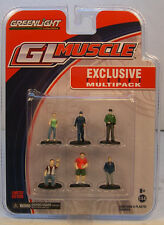 GREENLIGHT 1:64 SCALE ACCESSORIES SIX ASSORTED PAINTED DIORAMA FIGURES