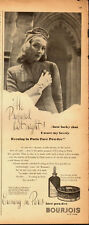 1942 Vintage ad for Evening in Paris Face Powder`Cosmetic (031914)