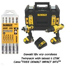 DEWALT 18v Cordless XRP Twinpack KIT COMPLETO IN T STAK caso
