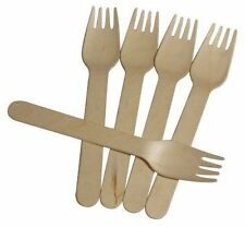 Wooden Disposable Forks 16 cm Pack of 100 - Party Tableware