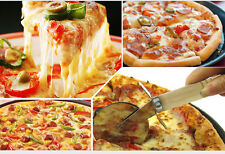 Kitchen Wood Handle Stainless Steel Pastry Nonstick Pizza Cutter Wheel Slicer