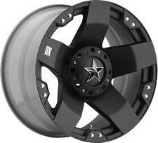 "(5) 18"" XD Rockstar Black Wheels 35"" Atturo MT Tires Package Jeep Wrangler JK"