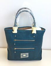 Anya Hindmarsh Teal Turquoise Leather Tote Style Hand Shoulder Bag
