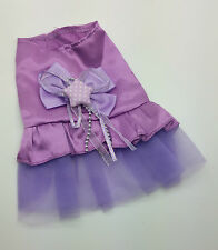 XXS 17CM TEACUP PURPLE SATIN DOG DRESS CLOTHES CHIHUAHUA MALTESE YORKIE PUPPY
