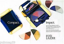Publicité Advertising 1988 (2 pages) Cosmétique maquillage Estée Lauder