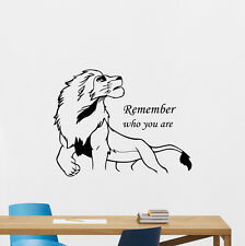 Lion King Wall Decal Simba Poster Nursery Vinyl Sticker Kids Decor Mural 213hor