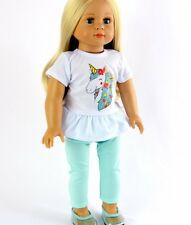"""Doll Clothes AG 18"""" Pants Mint Top Unicorn Made To Fit American Girl Dolls"""