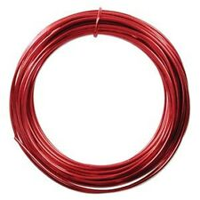 Anodized Aluminum Wire 12 Gauge 39 Feet Red 41273 Round Shiny