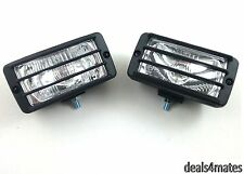 UNIVERSAL CLEAR CAR VAN DAY HALOGEN SPOT FOG LIGHTS LAMP SET 12V E-MARKED NEW