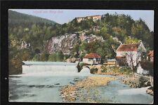 Österreich Postkarte gelaufen Ansicht Sillfall Berg Isel