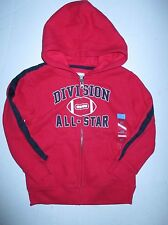 TCP The Children's Place Red Football All-Star Jacket Zip Up Hoodie Boys 5T NWT