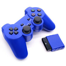 USB Wireless Controller Shock Gamepad Console Joypad Game Pad Blue For Sony PS2