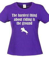 Ladies Horse Riding Funny Womens T-Shirt Top Ladies Christmas Present Gift Idea