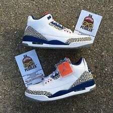 2016 AIR JORDAN RETRO 3 OG TRUE BLUE SIZE 9.5 black cement doernbecher 88