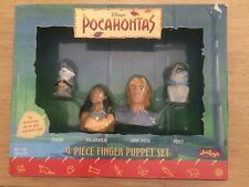 Vintage Disney's Pocahontas 4-Piece Finger Puppet Set. Rare-New In Box