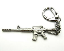 TFK321 - 60mm Blacktone Alloy M16 Machine Gun Silencer Key Chain Ring