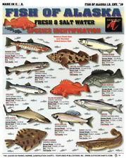 FISH of ALASKA Fresh & Salt - ID Chart - Tightline Tightlines Publications #16