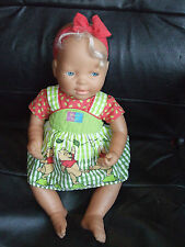 "VINTAGE 16"" SEATED WINNIE THE POOH FAMOSA BABY DOLL HARD BODIED PLAY OR REBORN"