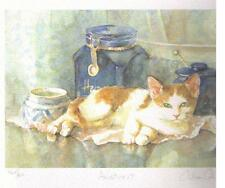 "GILLIAN CAROLAN ~ ""ARISTOCAT""  -  / GINGER and WHITE CAT ~Signed Limited Edition"