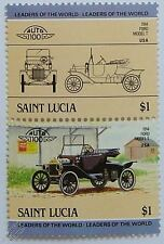1914 FORD MODEL T Car Stamps (Leaders of the World / Auto 100)