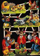 # GLANZBILDER # EF 7399, nostalgischer Osterbogen wunderschöner Bogen,  Glimmer