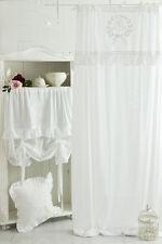 MATHILDE WEISS BESTICKT Gardine 2St x(145x250cm) Vorhang Romantik Shabby Franske