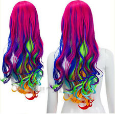 Sexy Women Lady Long Hair Wig Curly Wavy Synthetic Anime Cosplay Party Full Wigs